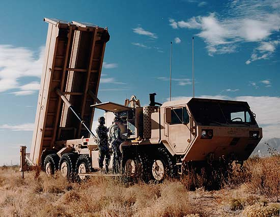 A THAAD defense system. Source: http://www.army-technology.com/projects/thaad/images/thaad_1.jpg