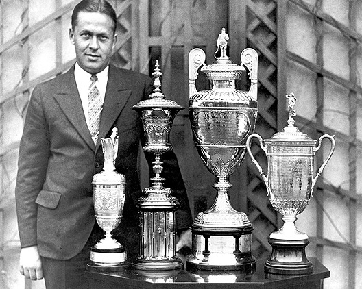 Bobby Jones with his four trophies.